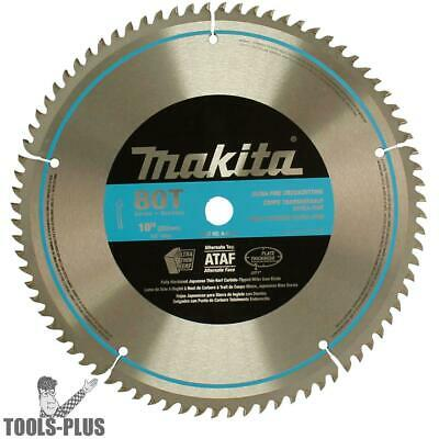 "Makita 10"" 80 Tooth Micro Polished Mitersaw Blade A-93681 NEW"