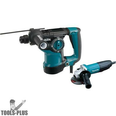 """Makita HR2811FX 1-1/8'' SDS-PLUS Rotary Hammer w/ 4-1/2"""" Angle Grinder New"""