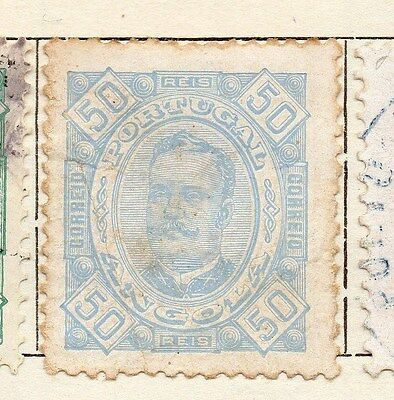 Angola 1893 Early Issue Fine Mint Hinged 50r. 130083
