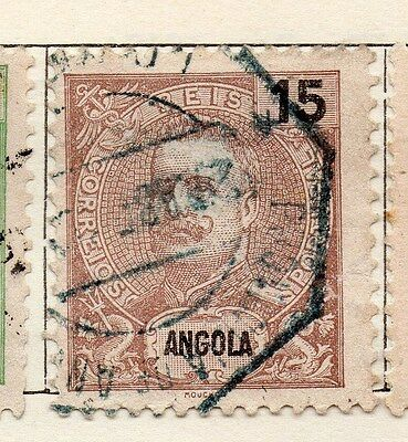 Angola 1898 Early Issue Fine Used 15r. 130088