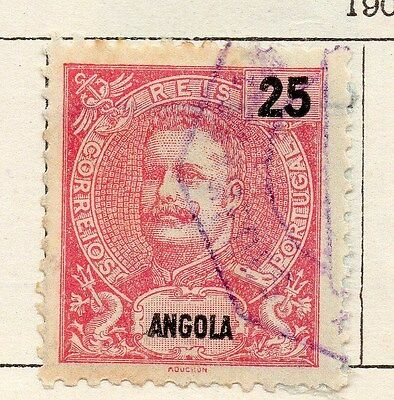 Angola 1903 Early Issue Fine Used 25r.  130106