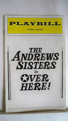 OVER HERE Playbill ANDREWS SISTERS / JOHN TRAVOLTA Tryout PHILADELPHIA 1975