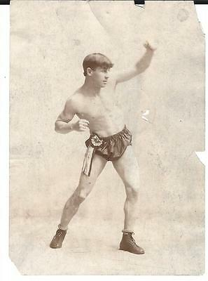 """Vintage 1910s Tommy O'Toole Photo Original 5.5"""" X 4"""" Very rare Boxing"""