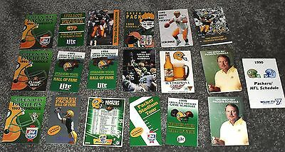 Big Lot of 19 Green Bay Packers NFL Football Vintage Sports Schedules