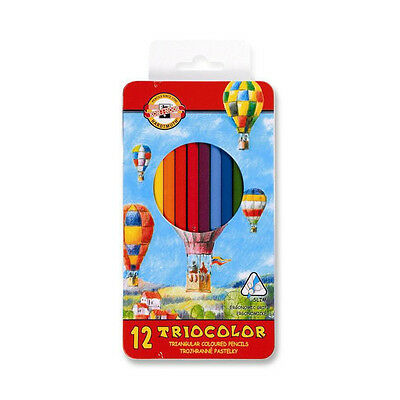 Koh-I-Noor 313 Triocolor Colouring Pencils in Metal Case - Sets of 12 and 24