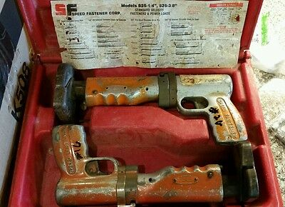 Speed Fastener Model 825 825c Low Velocity Stud Driver System set of two