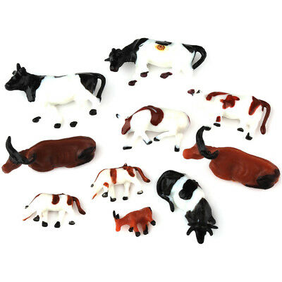 New 10 x HO Scale Model Animal Figures 1:87 Multi Cows for Train Building Layout