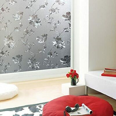 Graceful Frosted Etched Glass Design Window Decorative Vinyl Privacy Film