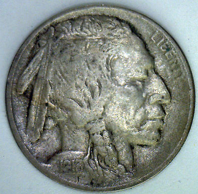1913 Buffalo Nickel Coin Indian Head Five Cents US Type( XF) Extra Fine #R1