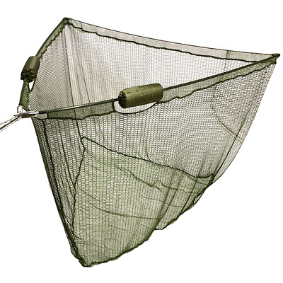"""42"""" Inch Large Carp Pike Fishing Landing Net With 'Dual' 2 Net Floats NGT Tackle"""