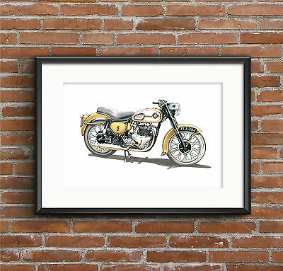 BSA A10 Golden Flash Motorbike POSTER PRINT A1 size