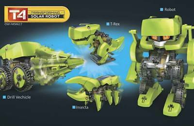 NEW OWI T4 Transforming Solar Robot OWI-MSK617