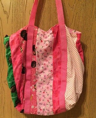 Pink Girl Scouts Reusable Tote Bag Rare Unique One Of A Kind Troop Grocery Beach