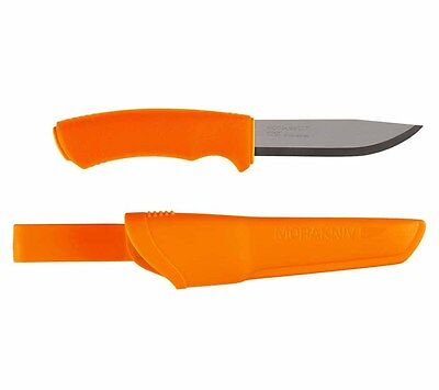 Mora Bushcraft Orange Stainless Steel Fixed Blade Knife and Sheath Morakniv
