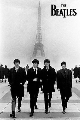 (LAMINATED) THE BEATLES IN PARIS POSTER (61x91cm)  PICTURE PRINT NEW ART