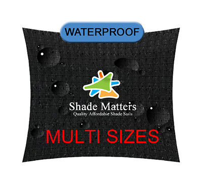 Waterproof  Shade Sail Black Rectangle Square Triangle