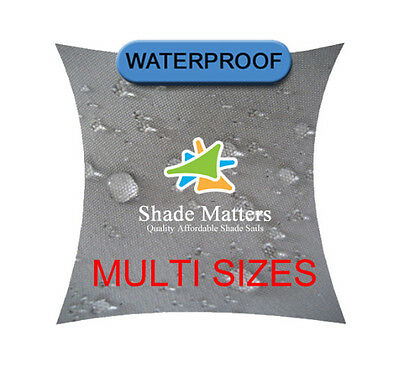 New Waterproof Shade Sail Grey Square Rectangle Triangle