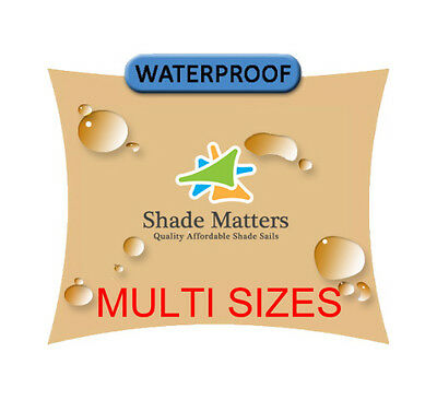 New Waterproof Shade Sail Sand Square Rectangle Triangle