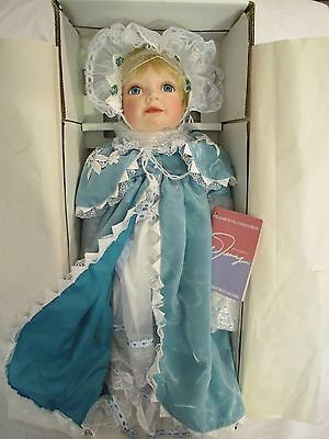 """William Tung 24"""" Porcelain Doll """"Keely"""" Handcrafted Certificate of Authenticity"""