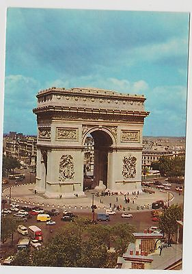 Postcard  Arc de Triomphe ( Arch of Triumph )  Paris France