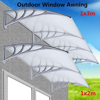 UK Delivery Outdoor Window Canopy Awning Porch Rain Snow Protection Cover 2 Size