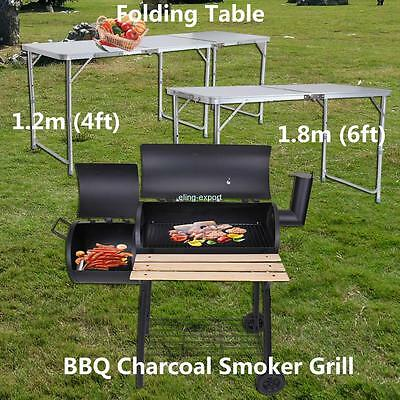 6ft /4ft Indoor Outdoor Aluminium Folding Table For Picnic Camping BBQ Barbecue