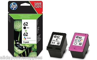 Original HP 62 Black C2P04AE & HP 62 Colour C2P06AE Ink Cartridges  HP Envy 7640