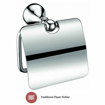 Traditional Chrome Toilet Paper Holder - NWT Bathroom Accessories