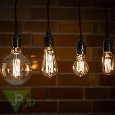 Industrial Filament Light Bulbs Vintage Squirrel Cage Antique Style 40W & 60W