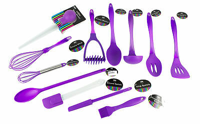 """""""Brights"""" Purple Silicone Kitchen Utensils - All You Need For The Kitchen"""