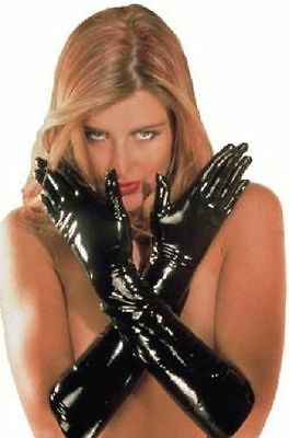 Sloane Sharon Rubber Latex Gauntlets Gloves Shiny Wet Look