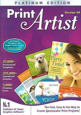 Print Artist Platinum 24, 27000 Templates, 37500 images, Greeting Cards, Banners
