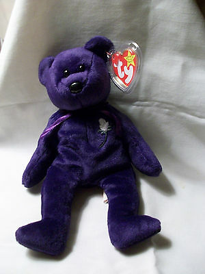 RARE MINT Condition Princess Diana TY Beanie Baby 1st Edition