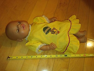 """2006 Zapf Creation Infant Baby Doll Drink Wet 16"""" Tall"""