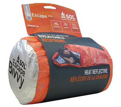 Sol Escape Bivvy Orange Adventure Medical Kits Sleeping Bag Shelter AMK Survival