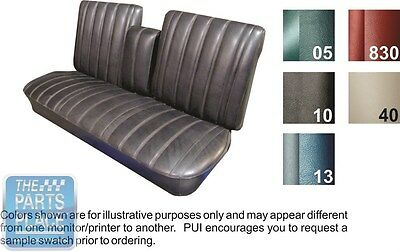 66 Skylark / GS / Special Deluxe 2-Tone Blue Bench W/ Armrest Seat Covers - PUI