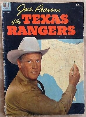 Jace Pearson of the Texas Rangers #5 comic book 1954 Golden Age western Dell