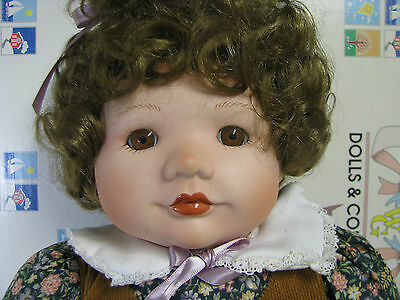 """Holly Hunt's AUTUMN 22"""" Toddler Porcelain World Gallery Doll  MIB"""