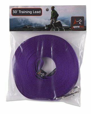 Lupine 30-Feet Training Lead for Small and Medium Dogs  1/2-Inch  Purple
