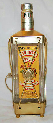 "11"" VINTAGE SWISS HARMONY MUSICAL ""KENTUCKY WHISKEY"" GLASS DECANTER BOTTLE"