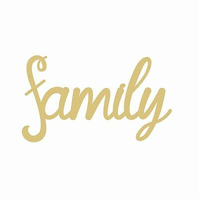 Family Style 4 Unfinished Wood Shape Cut Out USA Made Various Sizes