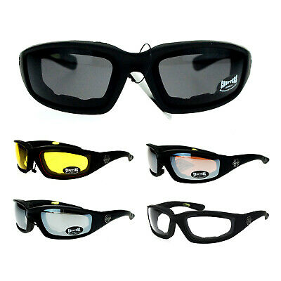 Choppers Mens Foam Padded Goggle Style Wind Breaker Motorcycle Sunglasses