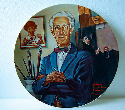 1978 TRIBUTE TO NORMAN ROCKWELL COLLECTOR PLATE - BRANTWOOD COLLECTION