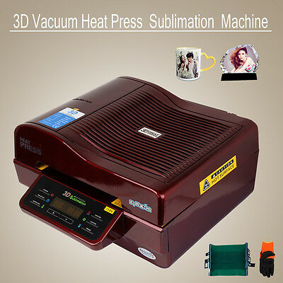 3D Sublimation Transfer Heat Press Machine for Phone Cases Mugs Cups 110V