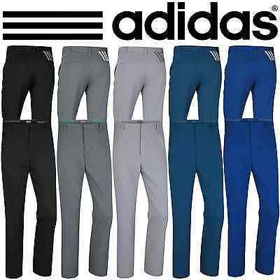 """NEW 2016"" Adidas Golf Mens Puremotion 3 Stripes Pant Performance Tech Trousers"