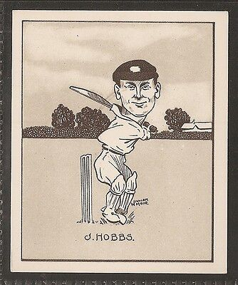 Hill Large Card-Caricatures Of Famous Cricketers-#17- Surrey - Hobbs
