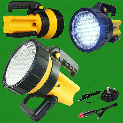 37 LED Akku Laterne Spotlight Taschenlampe 1 Million Candel Leistung Camping