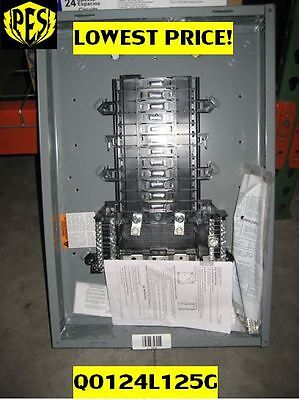 !!NEW LOW PRICE!!! SQUARE D QO124L125G Load Center W/COVER, 125 AMP NIB