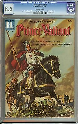Four Color #719 Cgc 8.5 Ow Pages // Prince Valiant Painted Cover