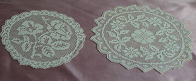 Lot Of 10 Beautiful Handmade Netlace Doilies  Pp362
